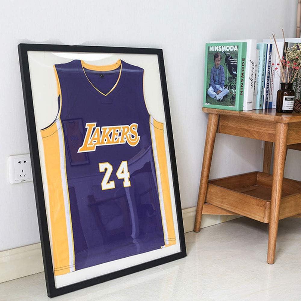 Jersey Display Cabinet Large Frame Ultra Transparent UV Protection Baseball//Football//Basketball//Hockey//Football//Jersey Display Box Display Cabinet Shadowbox Wall Mount(Black)
