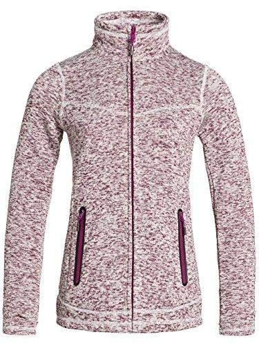 Magenta 'crystal' Jacket Purple Zip Roxy Fleece Up Women's Purple pRxqF