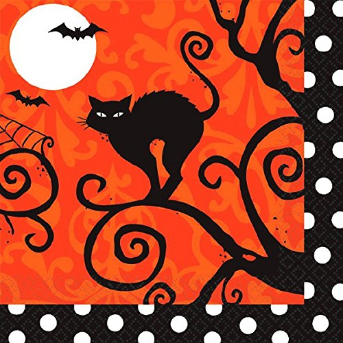 Frightfully Fancy Beverage Napkins (Halloween Beverage Napkins)
