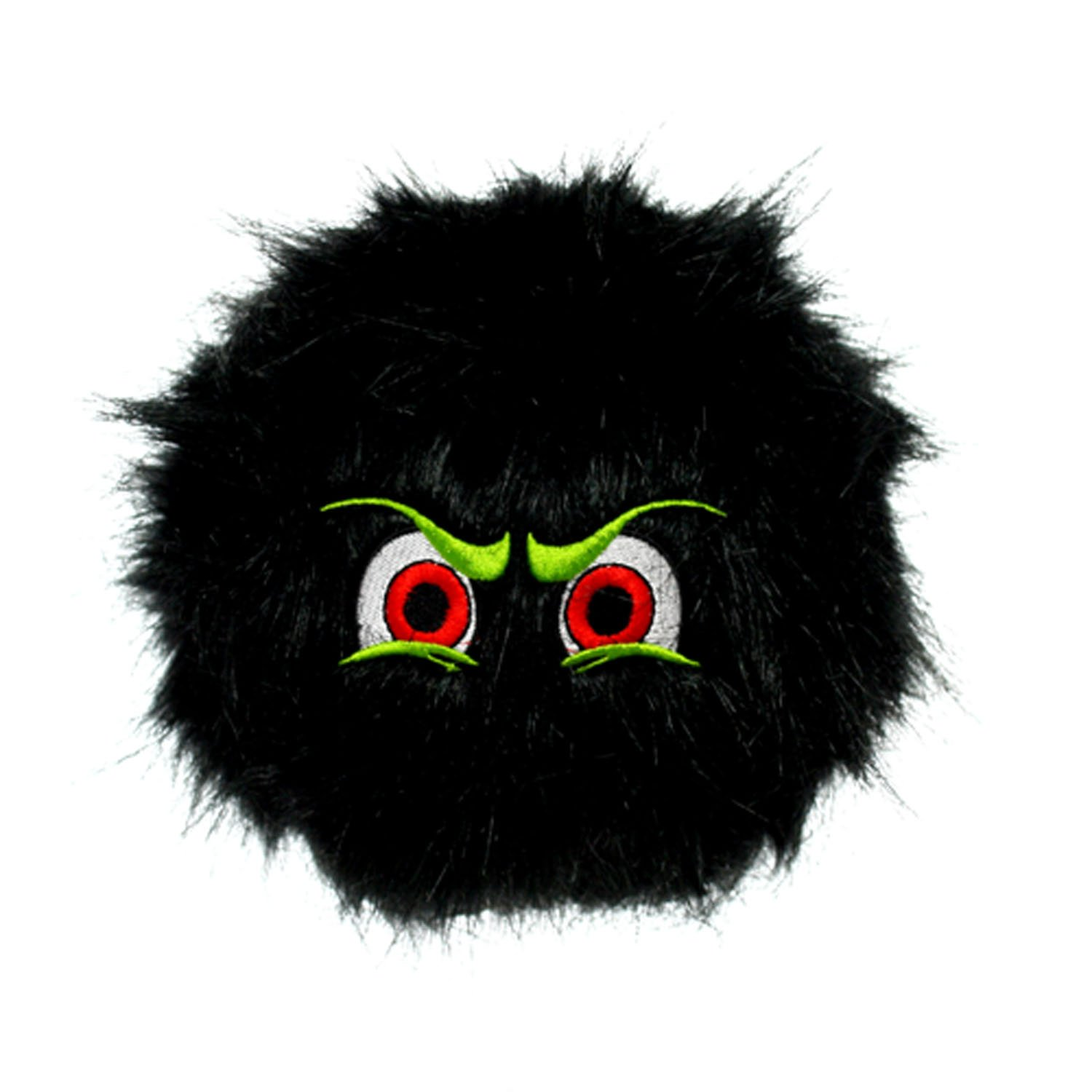 Large VIP Products Silly Squeakers IBalls Dog Toy, Large, Black