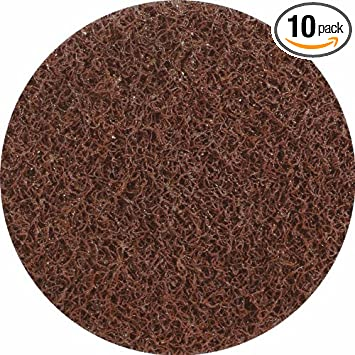 United Abrasives-SAIT 77116 4-Inch Sand-Light Non-Woven Disc 10-Pack Brown