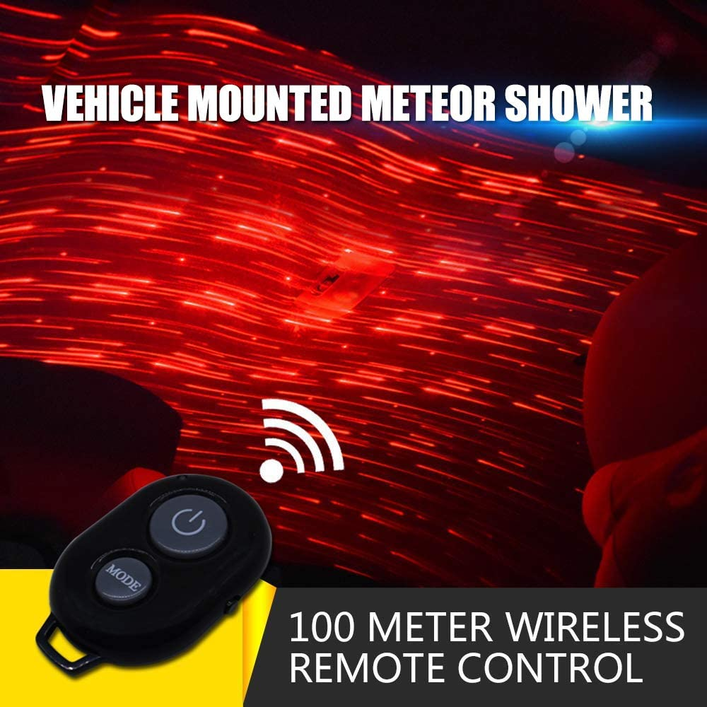 USB 100mw Laser Atmosphere Ambient Star led Glow The interiors Multiple Modes Lights for car//Home//Party Meteor Shower