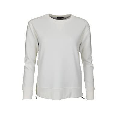 e0a3bc264007a Ralph Lauren Sweat avec Zip latéral Blanc pour Femme  Amazon.fr  Vêtements  et accessoires