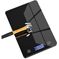 Nicewell Food Scale, 11lb Digital Kitchen Black Scale Weight Grams and oz for Cooking Baking, 1g/0.1oz Precise…