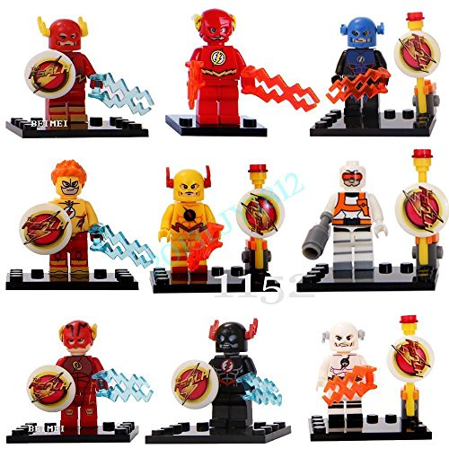 Shalleen 9 Set Flash TV Reverse Flash Professor Zoom Figures Lot Building Blocks Toy (Spider Man Costume Locations)