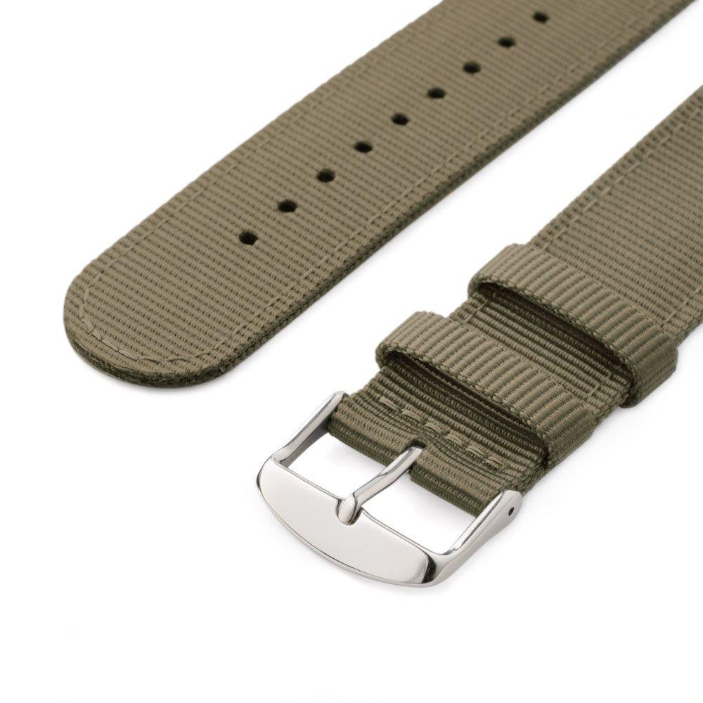 Archer Watch Straps | Repuesto de Correa de Reloj de Nailon para Hombre y Mujer, Correa Fácil de Abrochar para Relojes y Smartwatch | Caqui, ...