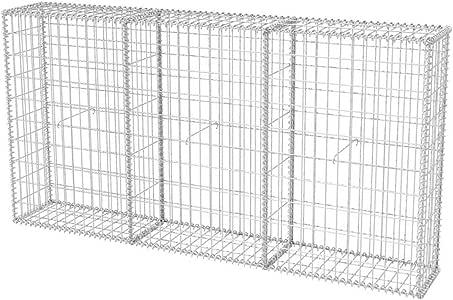 Nishore Cesta para Muro de Gabion 200 x 30 x 100 cm Acero: Amazon ...