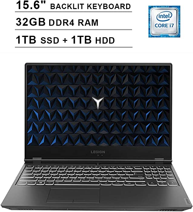 2020 Lenovo Legion Y540 15.6 Inch FHD 1080P Gaming Laptop (Intel 6-Core i7-9750H up to 4.5GHz, NVIDIA GeForce GTX 1650 4GB, 32GB DDR4 RAM, 1TB SSD (Boot) + 1TB HDD, Backlit Keyboard, Windows 10)