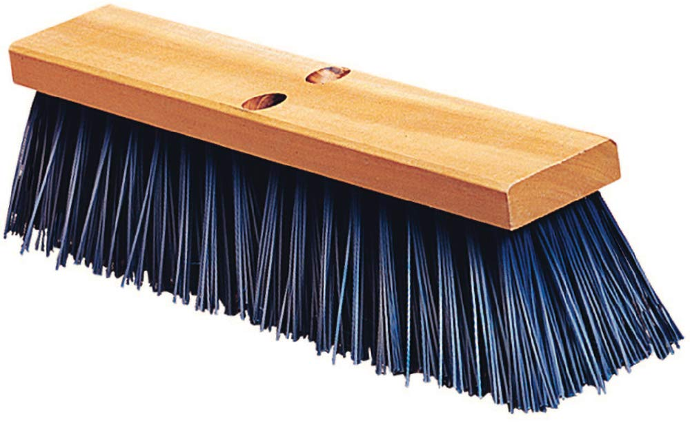 Carlisle 3611401814 Flo-Pac Hardwood Block Floor Sweep, Heavy Polypropylene Bristles, 4-1/2'' Bristle Trim, 18'' Length, Blue