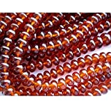 Hessonite Garnet - AAAgems - Rondelle Beads - 8mm To 5mm Beads - 16 Inch Strand - 115 Pieces