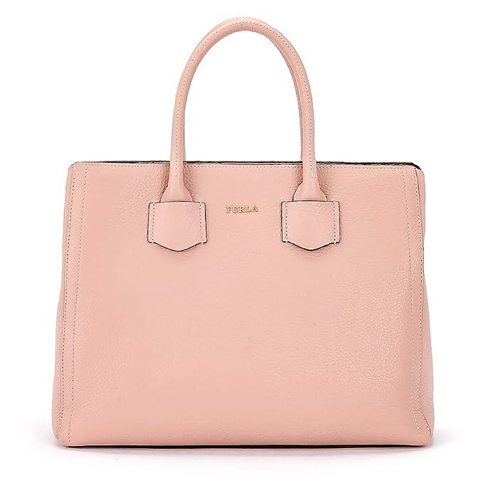0d05c4d2da7 Furla Bolso de mano Alba M de piel rosa  Amazon.es  Ropa y accesorios