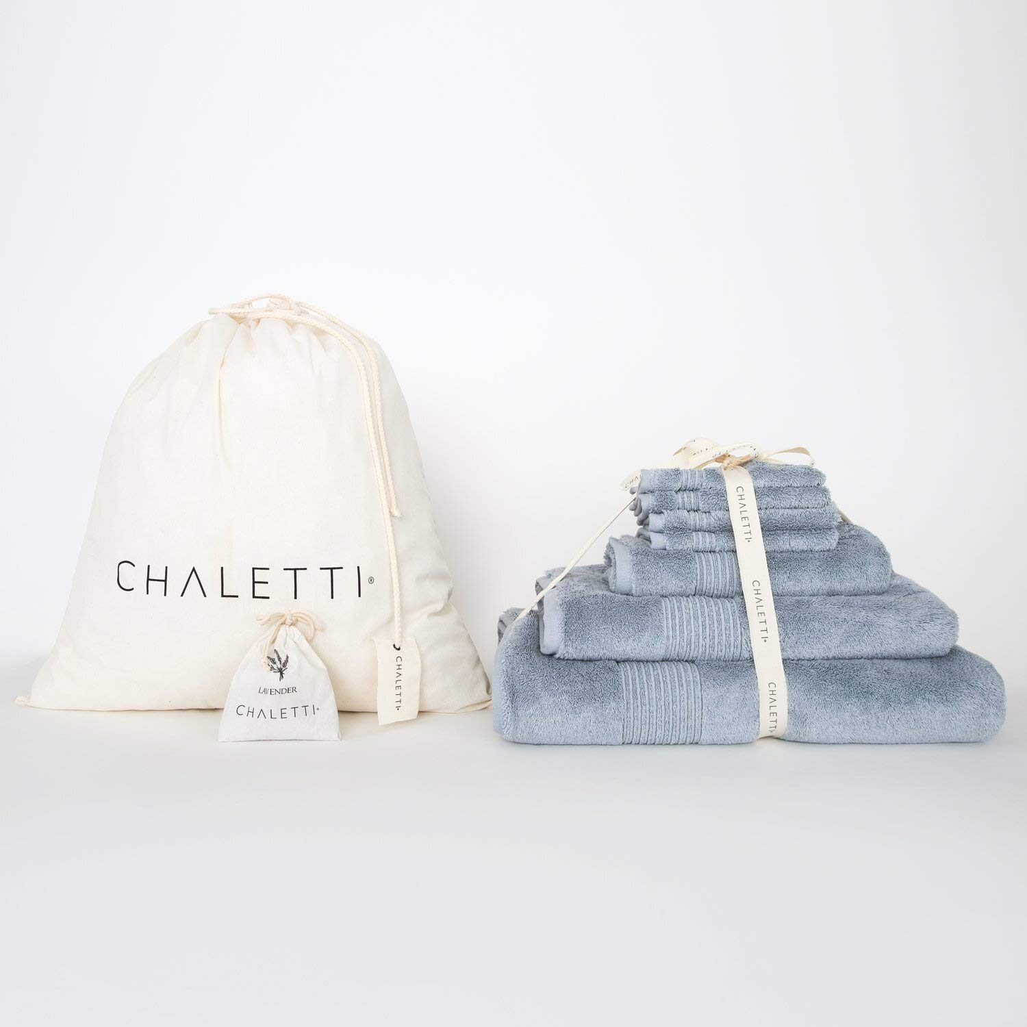 Chaletti Aspen Turkish Towel 7 Piece Set (Ice Blue)