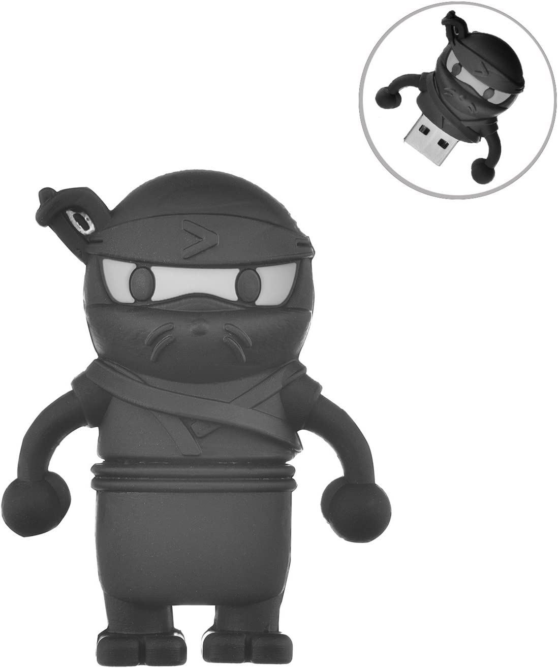 Flash Drive 32GB, Memory Stick Pen Drive USB2.0 AreTop Cute Cartoon Miniature Ninja Shape Thumb Drives for Date Storage Gift for School Students Kids ...