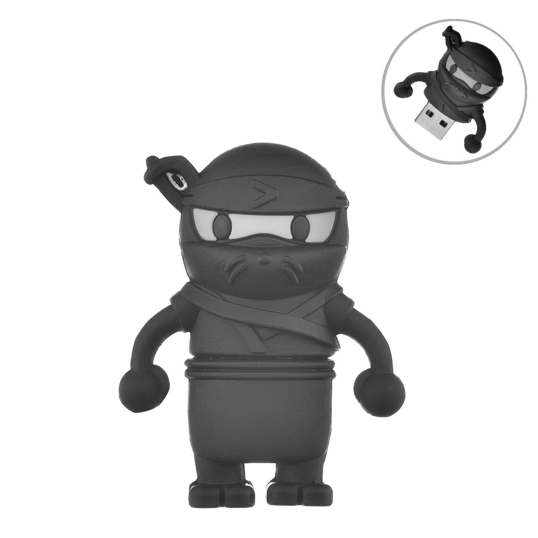 Flash Drive 32GB, Memory Stick Pen Drive USB2.0 AreTop Cute Cartoon Miniature Ninja Shape Thumb Drives for Date Storage Gift for School Students Kids Children Boys