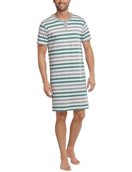 Schiesser Nachthemd 1/2, Camiseta de Pijama para Hombre, Verde (grün 700