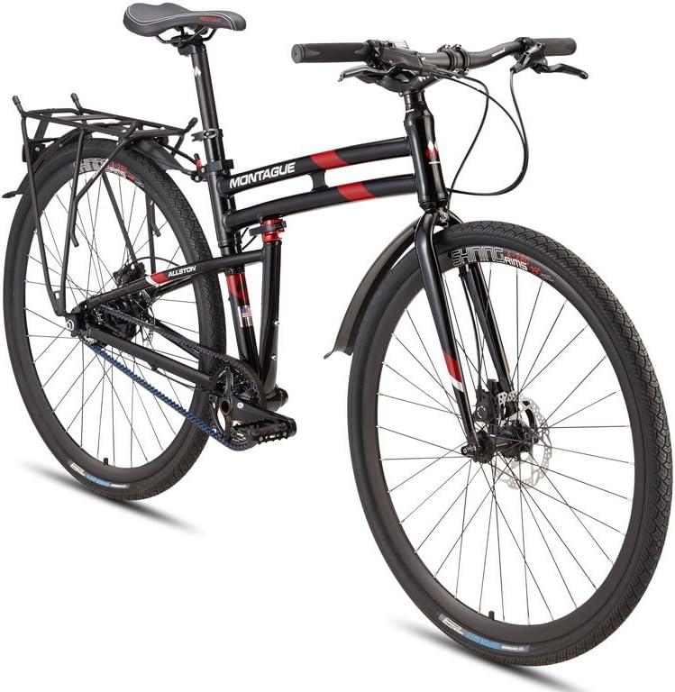 Montague Paratrooper Elite and Allston Pavement Hybrid Folding Mountain Bike, Folding Bicycles for Adults, Folding Bicycle, Folding Bike Bundled with ...