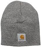 Carhartt Men's Acrylic Knit Hat, Heather Grey/Coal Heather, One Size