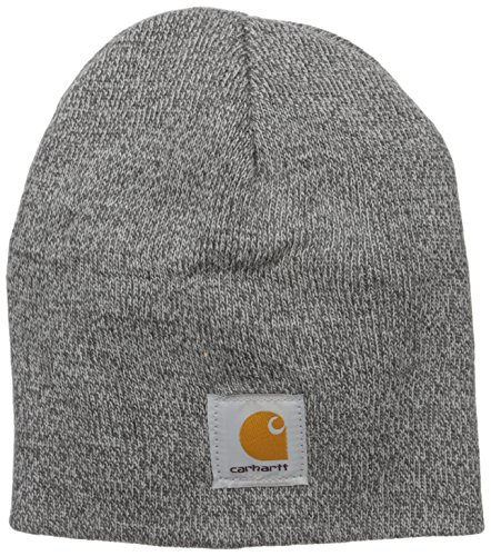 Carhartt Men's Acrylic Knit Hat, Heather Grey/Coal Heather, One Size -