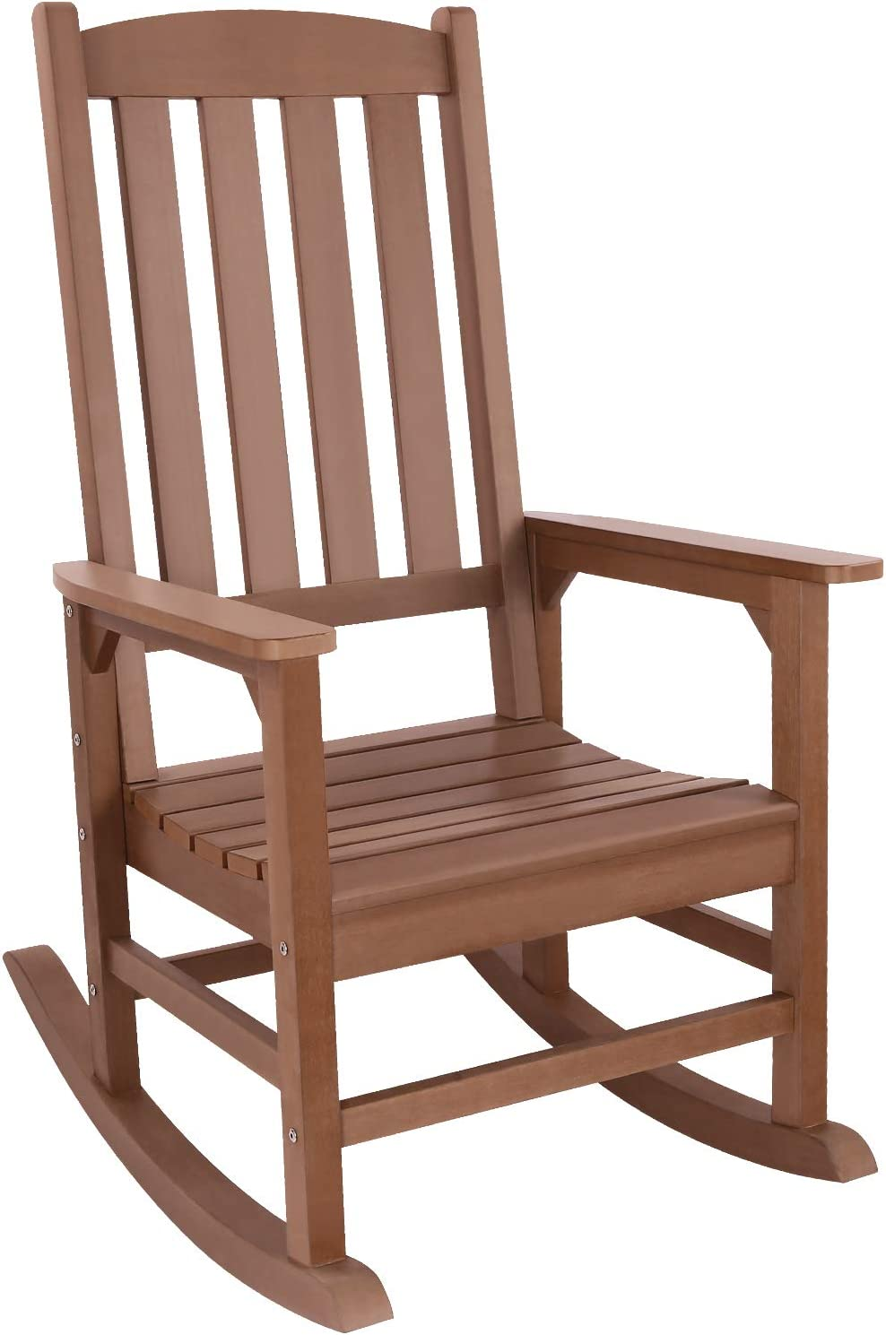 Outdoor Rocking Chair, REYLEO Presidential Rocking Chair Supports up to 350 lbs, All-Weather Polystyrene Rocker, Oversized Porch Rocking Chair, for Garden, Balcony, Backyard and Patio