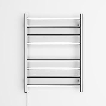 Elegant toallero eléctrico con 8 barras redondas de acero inoxidable 304 para calentar toallas, montaje en pared: Amazon.es: Hogar