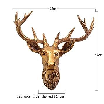 Amazon Com Pnygjhbg Deer Head Wall Mounted Decor Animal