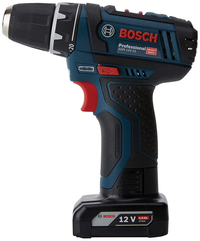 Bosch GSR 12V-15 Trapano avvitatore a batteria 10.8 V (1 x 2Ah, 1 x 4Ah) + accessori product image