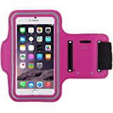 Urban Runner iPhone 6 (4.7 inch) Armband Case Cover For Running, Jogging, Cycling, Gym, Fitness, Tennis Secure Key Slot Suitable For Any Arm Size (Hot Pink)