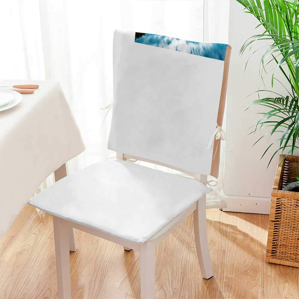 Mikihome Seat Set Cushion Reflection and 2 Piece Classic Decorative Chair pad Mat:W17 x H17/Backrest:W17 x H36