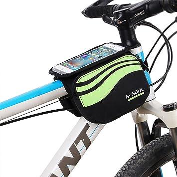 Bever Bolsa Bicicleta Manillar Montaña, Bolsa móvil portaequipajes ...
