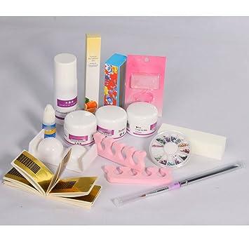Amazon pro acrylic powder liquid primer decoration kits diy pro acrylic powder liquid primer decoration kits diy nail art set kit w brush sanding solutioingenieria Image collections
