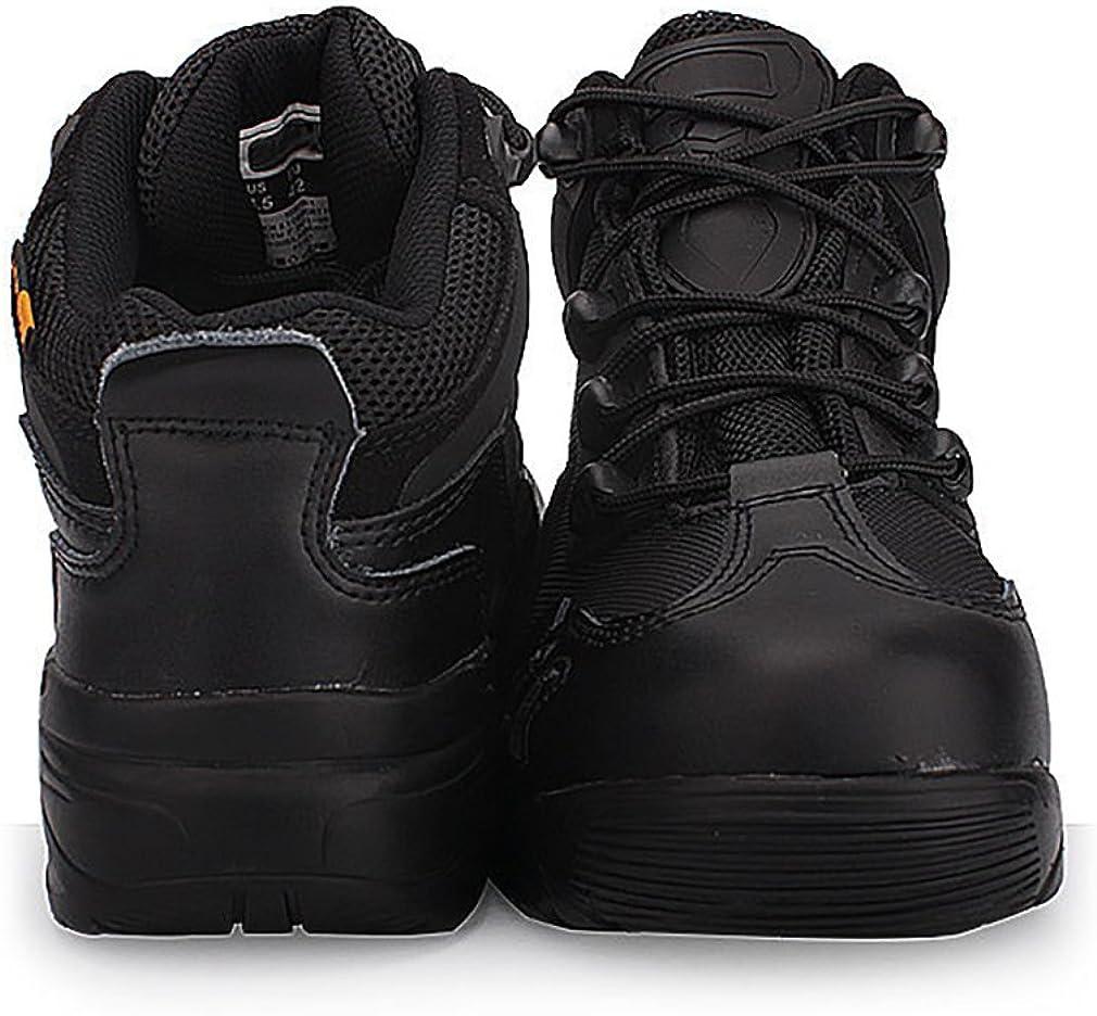 Suetar Zapatos de Senderismo de Cuero al Aire Libre Militares ntideslizantes y Transpirables Botas de monta/ñismo t/ácticos Profesionales