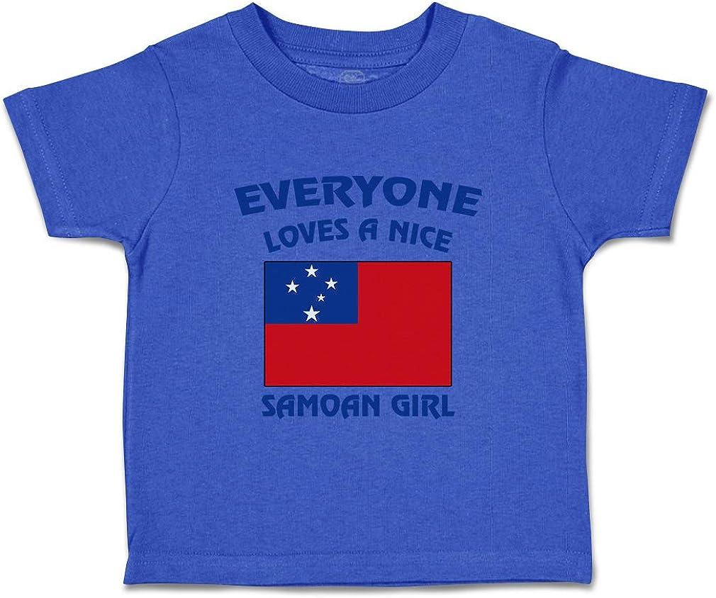 Custom Baby /& Toddler T-Shirt Everyone Loves A Nice Samoan Girl Samoa Cotton