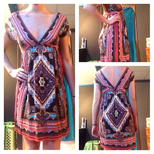 Rue21 Colorful Floral Aztec Dress