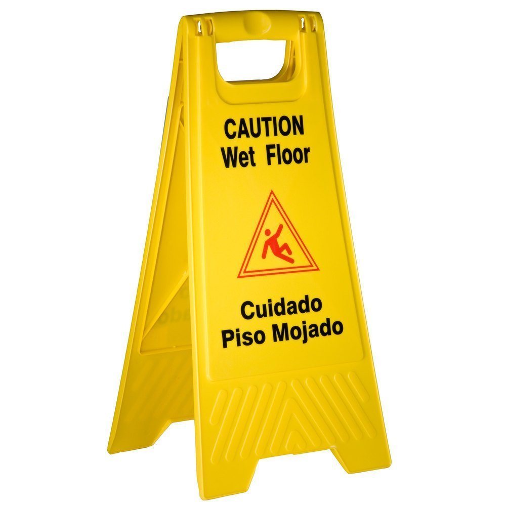caution professional warning cleaning sign in floor wet prod cone progress ourshop yellow