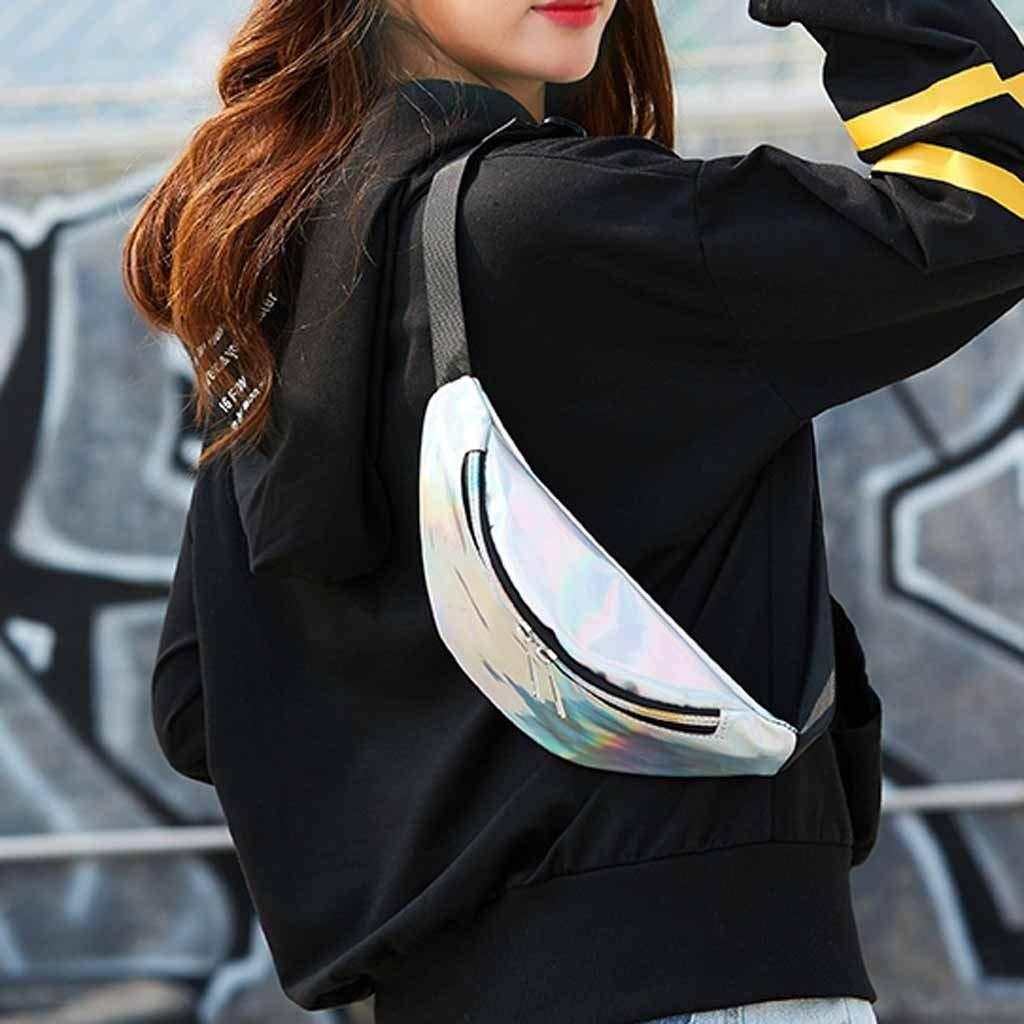 Danhjin Men Women Fashion Casual PU External Frame Solid Zipper Closure Dumplings Shape Messenger Crossbody Bag Chest Bag by Danhjin (Image #3)