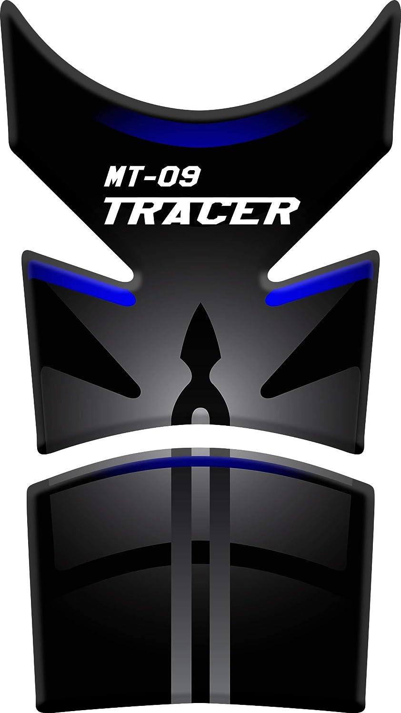 PARASERBATOIO ADESIVO Nero//Blu RESINATO EFFETTO 3D compatibile con Yamaha MT-09 Tracer