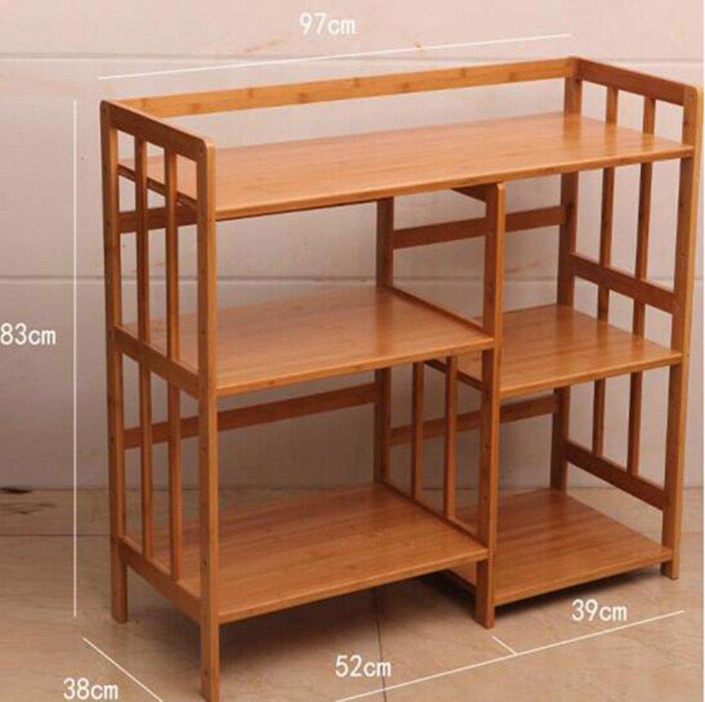 LFFSHELF Estable Bamboo Estante para microondas Estantería de ...