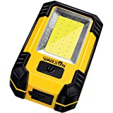 WARSUN Portable LED Rechargeable Work Light,Magnetic Base & Hanging Hook, 30W 1200Lumens Super Bright, 5000K, for Car Repairi