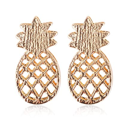 eee824aad Dire-wolves Pineapple Earrings Women Pineapple Stud Earrings Pineapple  Inspired Fruit Stud Earrings Delicate Earrings