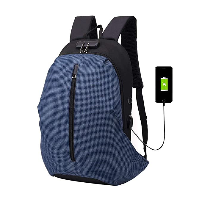 JiaMeng Mochila Hombre con Puerto de USB Mochila Multifuncional antirrobo de Gran Capacidad para Laptop Ordenador Viaje Negocio Multifuncional Daypacks: ...