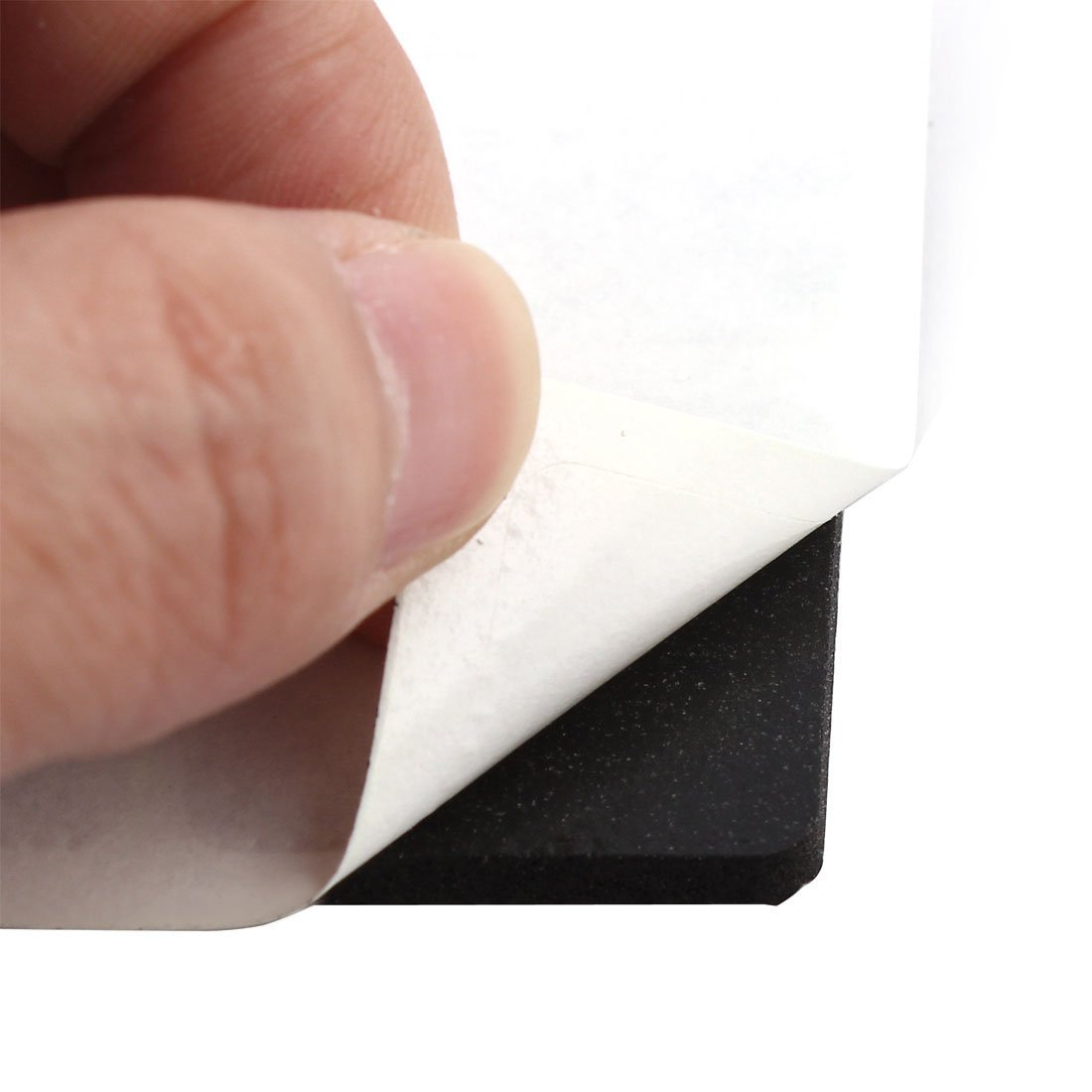 Sourcingmap/® Tabla de Goma rect/ángulo Cero contra la Pierna rellena el Protector Negro 30mm x 30mm 12pcs