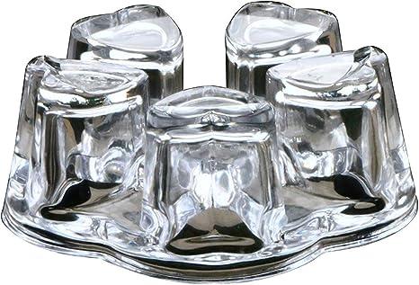 GEORGSH\u00dcTTE Heart Tealight Teapot Warmer  Coffee WARMER  Handmade  Table Centerpiece  Rechaud  Plate Warmer  Germany  Lead Crystal