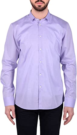 BILS REMIX - Camisa formal - para hombre Morado lila Large: Amazon.es: Ropa y accesorios