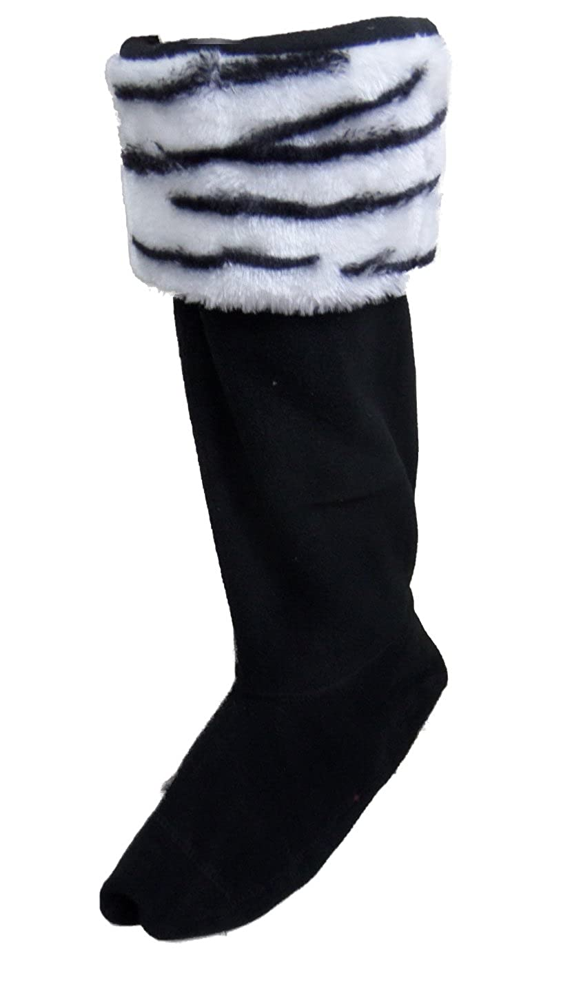 Pelo sintético calentadores de forro polar/de bota botas impermeables/botas de/bolsas/calcetines, Blanco A Rayas, UK 6 - 8 (Eu 39 - 42): Amazon.es: Ropa y ...