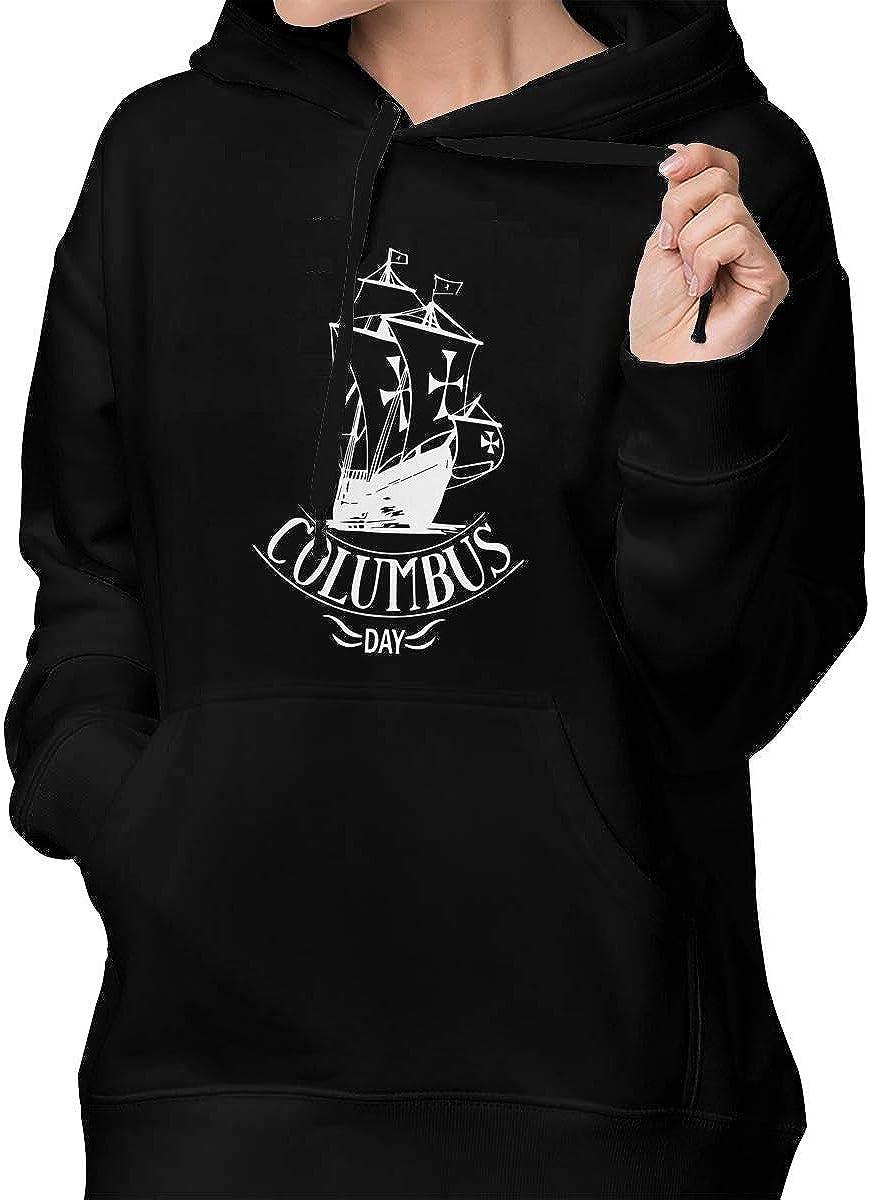 SWEF472 111Happy Columbus Day 2019 Women Hooded Sweatshirt Pocket Hoodie Outwear