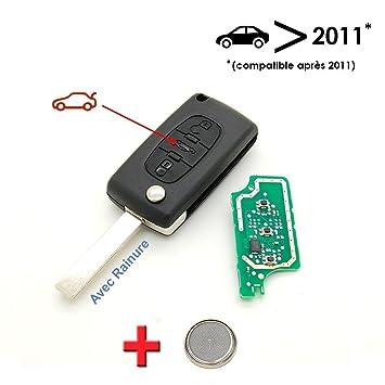 Llave electrónica lista para programar para Peugeot 207, 307 ...