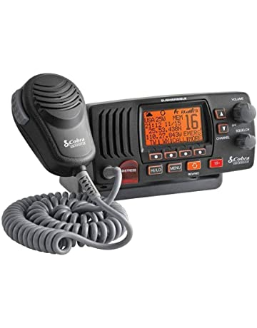 Cobra MR F57 B W Fixed VHF Marine EU Version - Radio LCD para Barco Vessel Yacht