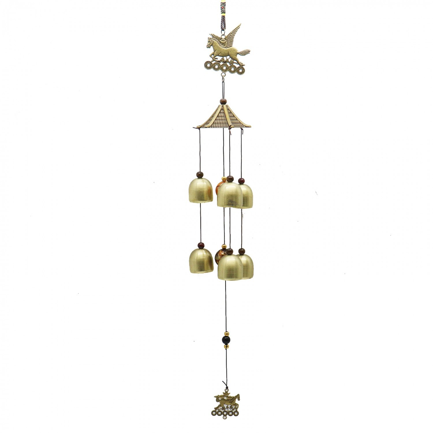Buorsa Metal Bronze Horse Wind Chime For Home And Garden Decoration