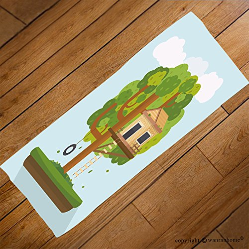 VROSELV Custom Towel Soft and Comfortable Beach Towel-tree house house on tree for kids children playground with swing and ladder Design Hand Towel Bath Towels For Home Outdoor Travel Use (Charleston Swivel Ladder)