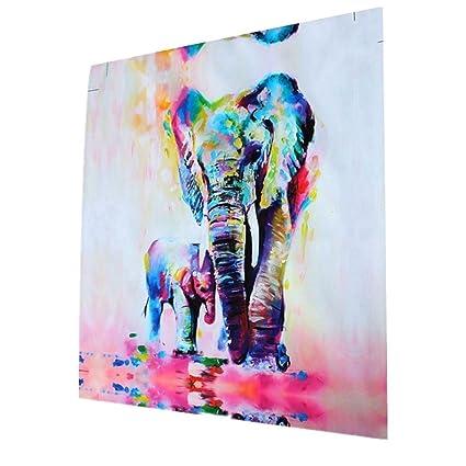 3pcs Cuadro Pintura de Pared Impresión de Elefantes Moderna de Lona ...
